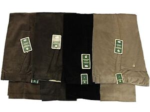 MENS NEW CARABOU THICK CORD CORDUROY  SMART FORMAL TROUSER IN BLACK BROWN 32 - 5