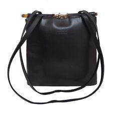 Giudi Schultertasche Purse Leder Leather Schwarz Black Made in Italy Handtasche