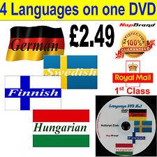 Learn German Swedish Finnish Hungarian Language Course DVD mp3 audio & text