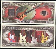 Bass Guitar Million Dollar Bill - Lot of 2 Bills