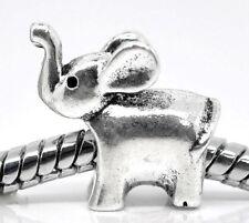 1pc Silver tone Charm Bead ELEPHANT Fit for European charm Bracelet/Necklace C80