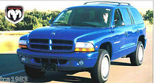 1997 / 1998 Dodge Durango Slt Spec Sheet / Brochure / Catalog, Suv