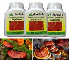 3x LINGZHI REISHI GANODERMA LUCIDUM CAPSULES SUPER FOOD HERB