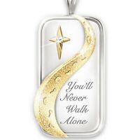 Exquisite Mode 925 Silber Fußabdrücke Kreuz Verlobung Hochzeit Halskette Heißer