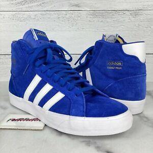 Adidas Originals Basket Profi Men's Size 9 Shoes High Top Blue Suede FW3102