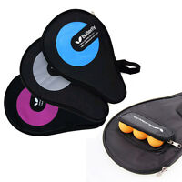 Butterfly Table Tennis Racket Cover Full Size Paddle & Balls Carry Bag 3 Colors