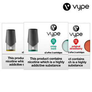Vype/Vuse ePEN 3 Pods (6mg, 12mg, 18mg)   Pack of 2   All Flavours   Cartridges