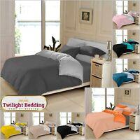 ULTRA SOFT PLAIN BEDDING SET 2In1 Duvet Cover Pillowcase Reversible Quilt Covers