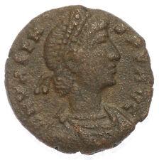 ROMAN BRONZE COIN FOLLIS VALENS SECVRITAS  REIPUBLICAE VICTORIA ROME AE16 2,60g