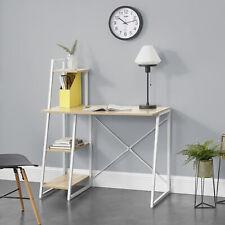 Schreibtisch mit Regal Bürotisch Computertisch Arbeitstisch PC Tisch Eiche/Weiß