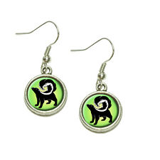 Skunk Dangling Drop Charm Earrings
