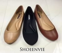 New Women Soda Kreme Round Ballet Ballerina Extra Comfort Padded Insole Flats