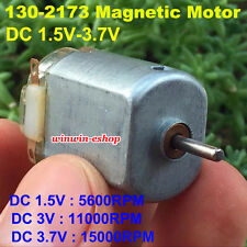 DC 1.5V 3V 3.7V 15000RPM High Speed Micro 130 Motor Magnetic Motor 9.7mm Shaft