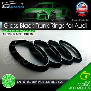 Audi Gloss Black Rings Trunk Liftgate Emblem Rear Logo Badge Q3 Q5 Q7 A6 A8 SQ5