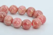 9MM Genuine Natural Rhodochrosite Beads Argentina Grade A+ Round Loose Beads 7""