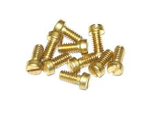 "Ten Meccano Part 111b Cheesehead Bolt 5/16"" (8mm) Brass"