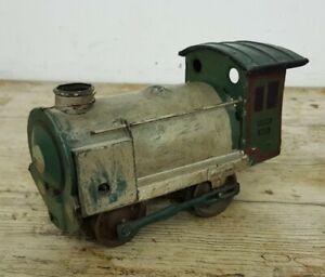 "Rare Vintage 8"" Tinplate GAMA Clockwork Steam Train Locomotive Made in Germany"