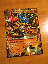 NM MEGA Pokemon M LUCARIO EX Card FURIOUS FISTS Set 113/111 XY X Y Secret Rare