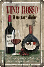 Red Wine Vino Rosso Drink Kitchen Party Gift Medium 3D Metal Embossed Sign