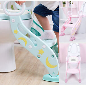 Kinder Toilettensitz Toilettentrainer Toilettenaufsatz Trittleiter Lerntöpfchen