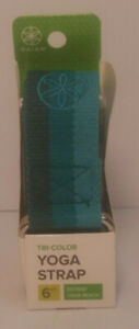 """Yoga Strap  6 FT Gaiam Tri-Color Green """"Extend Your Reach"""" Brand New"""