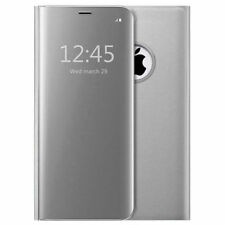 Housse Etui, coque à clapet miroir translucide  argent pour Apple iPhone 6/6s