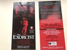 2x flyer  / handbill THE EXORCIST Phoenix Theatre Jenny Seagrove Adma Garcia