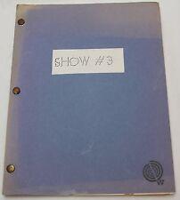 ROOTS * 1977 Original TV Show Script * SUPER RARE From SEASON 1 Episode 3