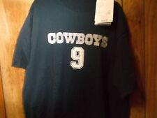 NWT NFL Tony Romo #9 Dallas Cowboys Tshirt-Sz XL-Lettering Printed Like Jersey