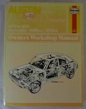 Haynes Austin Mk I & II Allegro 1100 & 1300 '73/'78 Owners Workshop Manual Book