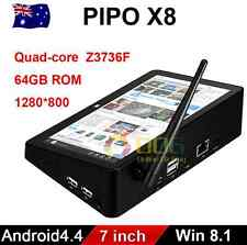 "PIPO X8 64G 7"" Mini PC Tablet TV Box Dual OS Android Win Quad Core Media Player"
