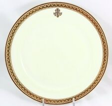 FAB SET 13 SERVICE PLATES ANTIQUE CAULDON BONE CHINA H3765 RAISED GOLD ENCRUSTED