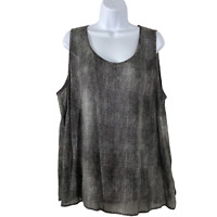 Eileen Fisher Scoop Neck Shell Tank Top 100% Silk Printed NWT Women's Size 2X