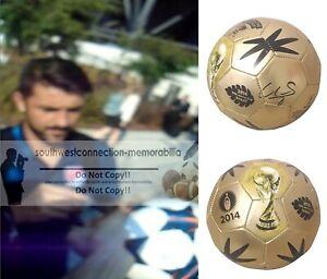 David Villa Signed 2014 World Cup Soccer Ball Espana Spain Proof NYFC Autograph