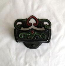 Vintage Wilton Metal Cast Iron Match Holder Collectible Metal  L1