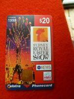 1998 SYDNEY EASTER SHOW  $20 TELSTRA  PHONECARD USED