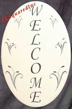 WELCOME SIGN Window Decal - 10x16 OVAL Static Cling Glass Door and Window Decor