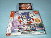 SONIC ADVENTURES INTERNACIONAL  SEGA Dreamcast  SPINE CARD + REG CARD NEW!