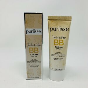 Purlisse Perfect Glow BB Cream SPF 30 TAN DEEP Full Size1.4oz SEALED NIB RV$35