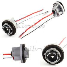 2× 1156 7506 1141 P21W Turn Signal Light Brake Light Socket Harness For LED Bulb