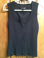 INC INTERNATIONAL CONCEPTS WOMEN'S BLACK RIBBED TOP SIZE XL