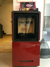 Piazzetta Qube 2 Red Woodburning Stove 9KW