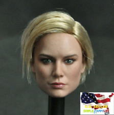"1/6 female Head A Captain Marvel Brie Larson For 12"" Figure Phicen hot toys❶USA❶"