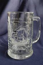 The Columbus Fleet Pinta Clear Heavy Glass Beer Mug ~16 Ounce Santa Maria & Nina