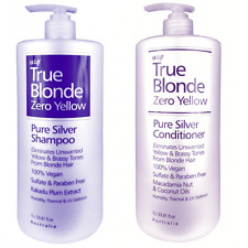 Hi Lift True Blonde Zero Yellow Pure Silver Shampoo Conditioner Duo 1000ml / 1l
