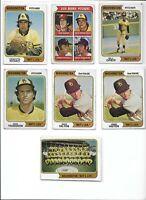 1974 Washington Nat'l Lot of (7) Team #599 Hilton Romo Greif Troedson VG