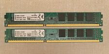 2X4Gb (8Gb) Kingston Pc3-12800 desktop 1600Mhz Kcp316Ns8/4 for Hp/Compaq Dell