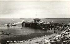 Bayside Northport ME Wharf Scene c1950s Real Photo Postcard