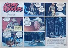 Casey Ruggles by Warren Tufts - large half-page color Sunday comic Oct. 7, 1951