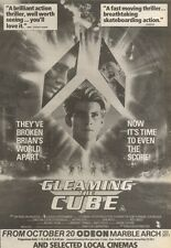 21/10/89Pgn33 Advert: See 'gleaming The Cube' Starring Christian Slater 10x7